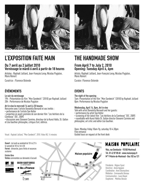 "Invitation ""The Handmade Show"", preview. (web version)"
