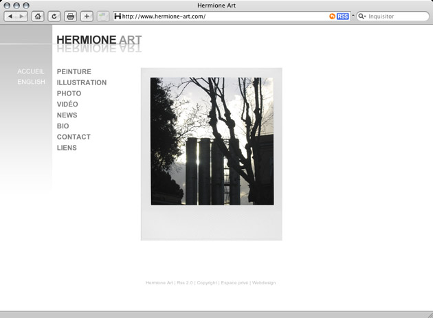 Hermione Art - Homepage - Preview